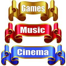 Cinema - Music - Games
