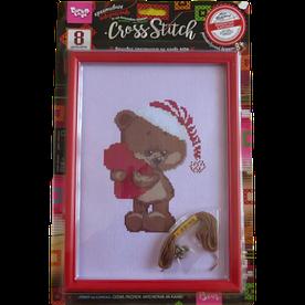 Набор для творчества Danko toys изонить, вишивка хрестиком Мішка з серцем