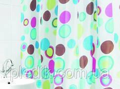 Штора для ванной 180х180 Arya Colorull разноцветные шарики.