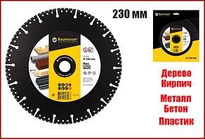 Алмазний диск універсальний 230x2,6/1,8x6x22,2 Baumesser Rex PRO 1A1RSS V