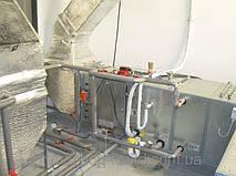 обвязка вентустановки с фреоновым охладителем