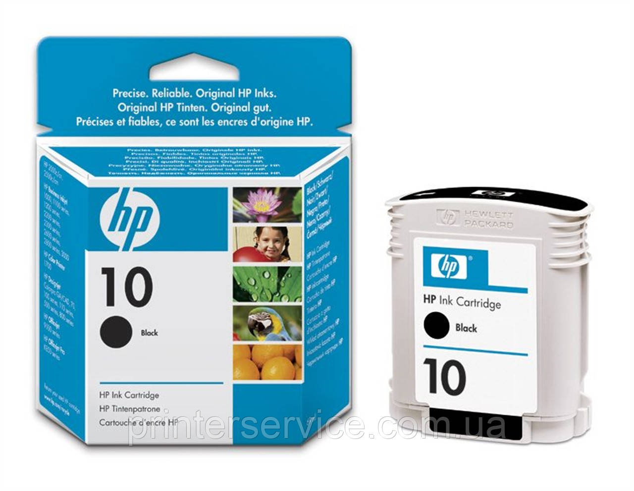 Картридж HP 10 C4844A профессиональных струйных принтеров Hewlett Packar DJ2000/2200/2500 cp1700 black, 69 ml