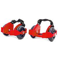 Ролики на п'яту двоколісні Record Flashing Roller, пластик, колесо PU, червоний (SK-166-(rd))