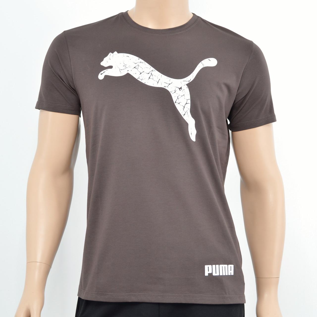 Чоловіча футболка Puma(репліка) Коричневий