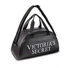 Черная фитнес-сумка Victoria's Secret для тренировок, спорт.  Кожзам