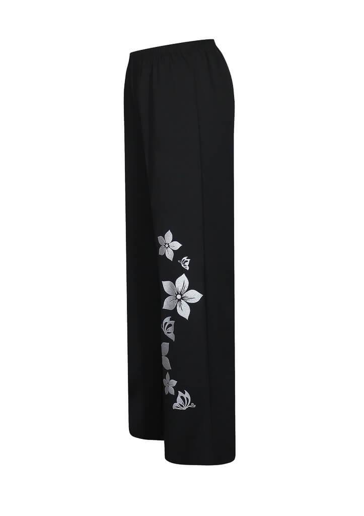 Женские классические брюки с высокой талией Цветы