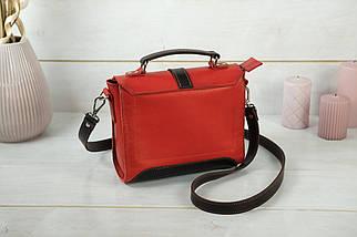 Сумка женская. Кожаная сумочка Марта, Кожа Итальянский краст, цвет Красный, фото 2