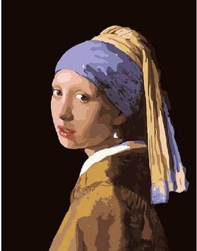 Картины по номерам 40х50 см Brushme Девушка с жемчужной серёжкой. Ян Вермеер (G 223)