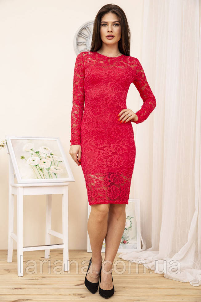 Платье 167R1063-2 цвет Красный