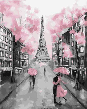 Картины по номерам 40х50 см Brushme Розовый париж (GX 22055)