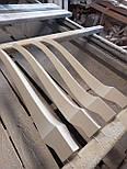Меблеві ніжки і опори з дерева кабріоль  H. 580 D. 80, фото 3