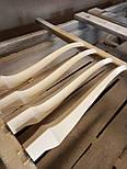 Меблеві ніжки і опори з дерева кабріоль  H. 580 D. 80, фото 5
