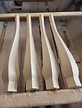Меблеві ніжки і опори з дерева кабріоль  H. 580 D. 80, фото 7