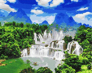 Картины по номерам 40х50 см Brushme Водоспад Детьян (GX 27324)