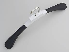 Плічка довжиною 45 см вішалки Black&White дерев'яні чорно білі широкі, фото 3
