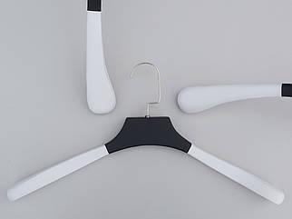 Плічка довжиною 45 см вішалки Black&White дерев'яні біло чорні широкі