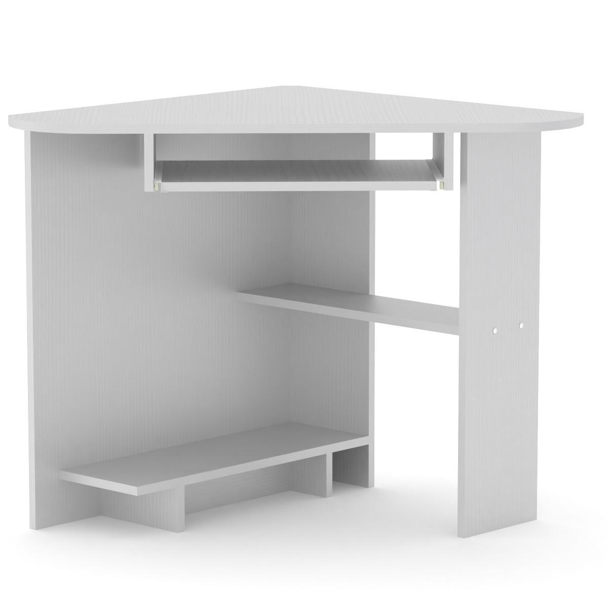 Стіл письмовий СУ-15 німфея альба (білий) Компаніт (76х76х74 см)