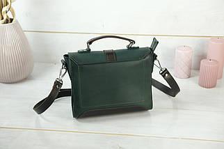 Сумочка Марта, Шкіра Італійський краст, колір Зелений, фото 2