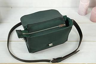 Сумка женская. Кожаная сумочка Марта, Кожа Итальянский краст, цвет Зеленый, фото 3