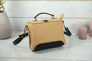 Сумка женская. Кожаная сумочка Марта, кожа Grand, цвет Бежевый, фото 2