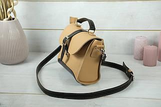 Сумка женская. Кожаная сумочка Марта, кожа Grand, цвет Бежевый, фото 3