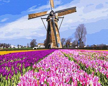 Картины по номерам 40х50 см Brushme Голландская мельницы (GX 29433)