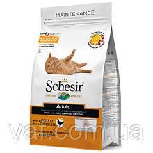 Сухой монопротеиновый корм для котов Schesir Cat Adult Chicken Шезир Врослый Кот Курица 1.5 кг
