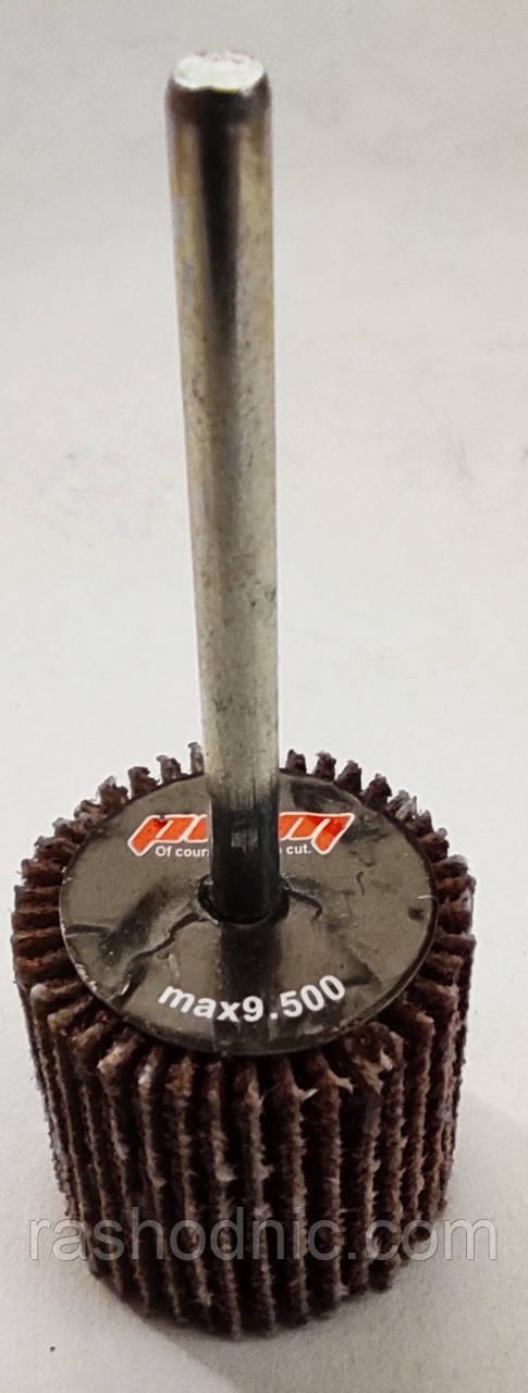 Круг шлифовальный лепестковый с оправкой  КЛО 20*20*3 Р80 для DREMEL