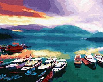 Картины по номерам 40х50 см Brushme Корабли на закате (GX 30100)