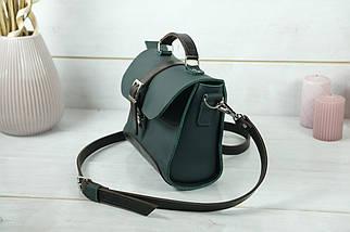 Сумка женская. Кожаная сумочка Марта, кожа Grand, цвет Зеленый, фото 3