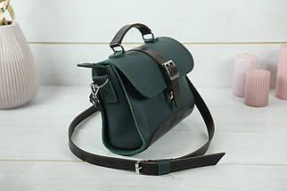 Сумка женская. Кожаная сумочка Марта, кожа Grand, цвет Зеленый, фото 2