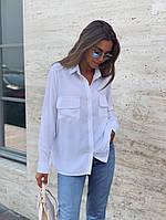 Женская классическая рубашка с двумя карманами, фото 1