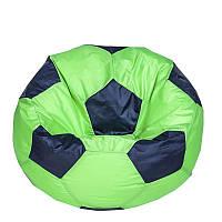 Бескаркасное кресло мяч 60 х 60 см Салатово-синее