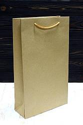 Бумажный большой подарочный крафт пакет 40*24*9см 12шт/уп