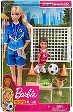 Лялька Барбі тренер по футболу - Barbie Soccer Coach Playset with 2 Dolls and Accessories, Soccer Player