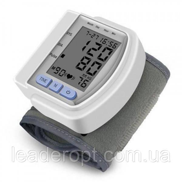ОПТ Тонометр автоматический smart CK 102S на запястье для измерения давления и пульса белый
