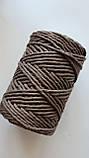 Шнур хлопковый Макраме 5мм Коричневая пастель, фото 4