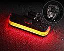 Задний фонарь-мигалка USB с указателем поворотов с пульта, фото 7