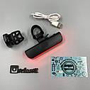 Задний фонарь-мигалка USB с указателем поворотов с пульта, фото 4