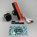 Задний фонарь-мигалка USB с указателем поворотов с пульта, фото 3