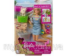 Уценка! Кукла Барби Купай и играй - Barbie Play 'n' Wash Pets Playset with Blonde Doll