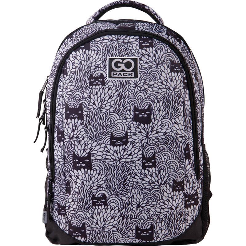 Підлітковий Рюкзак GoPack 133 Black cats GO21-133M-5 43х30х16 см 475 р 21 л чорно-білий