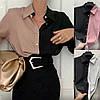 Р 42-56 Двухцветная женская блузка-рубашка 23637