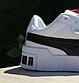 Чоловічі весняні кросівки Puma cali (Білі з чорним) O10211 спортивні стильні кеди для хлопців, фото 9