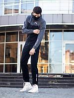 Двунитка костюм черно-серый Андер 122-0074