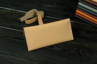 Гаманець клатч шкіряний з закруткою, Шкіра Grand, колір Бежевий, фото 2