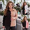 Р 42-56 Двоколірна жіноча блузка-сорочка Батал 23637-1