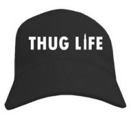 Мужская кепка-бейсболка козырёк, надпись Thug life