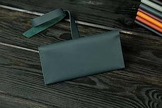 Гаманець клатч шкіряний з закруткою, Шкіра Grand, колір Зелений, фото 2