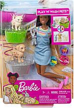Уцінка! Лялька Барбі Купай і грай - Barbie Play 'n' Wash Pets Playset with Brunette Doll